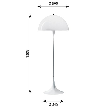 Afmetingen Louis Poulsen Panthella Vloerlamp
