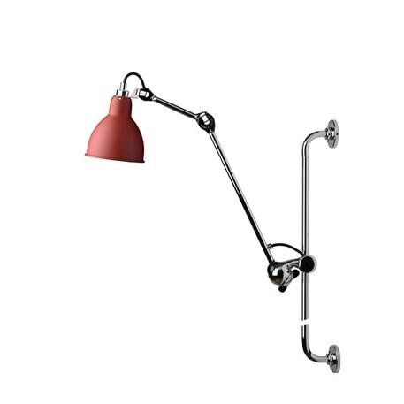 La Lampe Gras Wandspot in Chroom/Rood