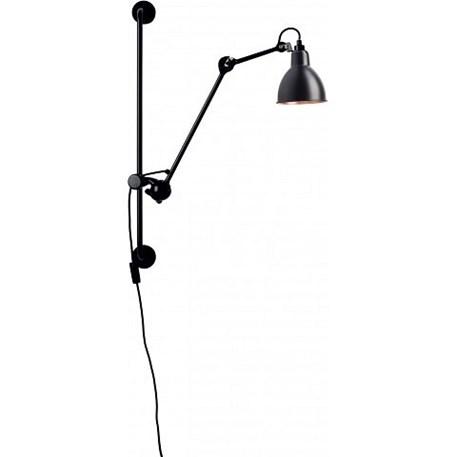 La Lampe Gras Wandspot in Zwart/Zwart/Koper