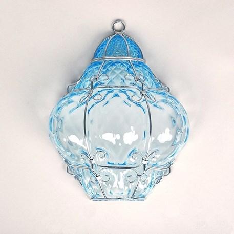 Venetiaanse Wandlamp Bellezza Aquamarijn