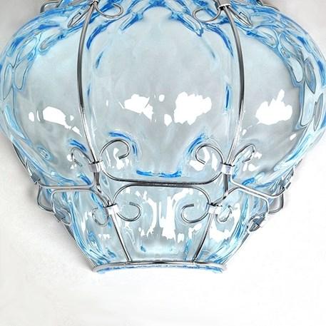 Detail Venetiaanse Wandlamp Bellezza Aquamarijn