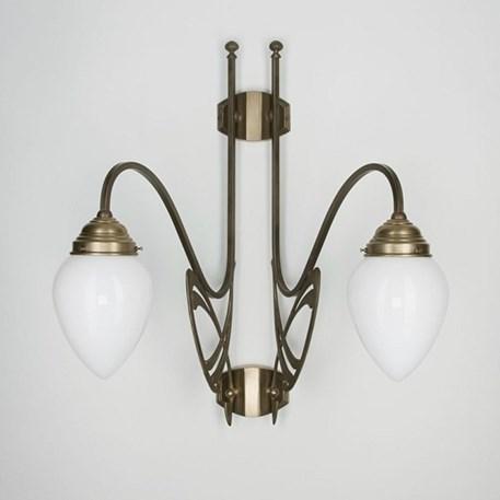 Victor Horta Dubbele Wandlamp Elegantie