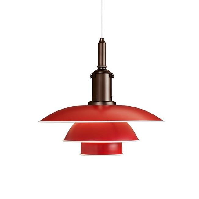 Louis Poulsen PH 3½-3 Hanglamp in rood