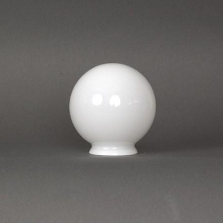 Opaal witte glasbol van 10cm