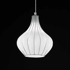 Venetiaanse Hanglamp Druppel   Opaal Wit
