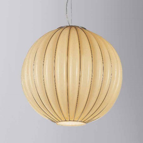 Venetiaanse Hanglamp Globe | Ambergeel