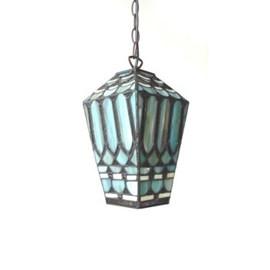Lantaarn Tiffany Turquois