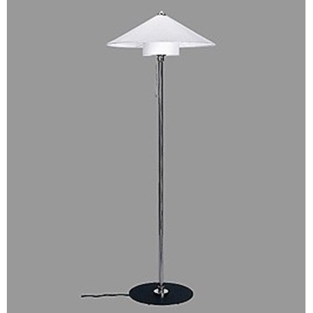 Staande Lamp Bauhaus 1928 met Linnen Kap