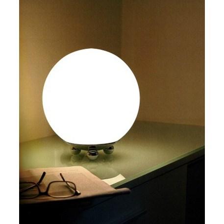 Sfeerfoto excentrieke Globe Tafellamp met ronde vormen