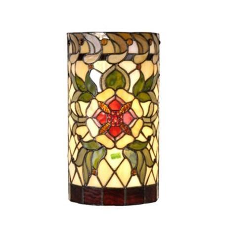 Wandlamp Tiffany Rode Robijn
