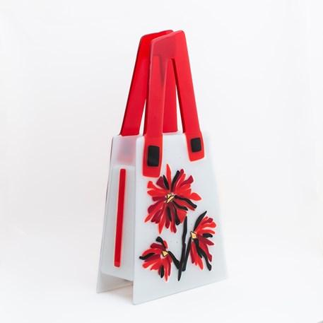 Art Deco Glazen Tas Flowery