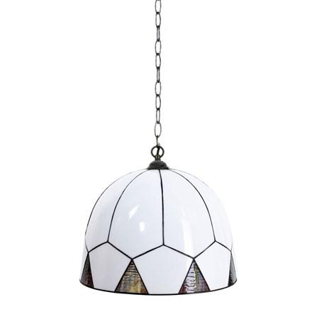 French Art Deco Tiffany Hanglamp Carraway aan Ketting