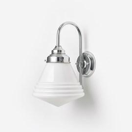 Wandlamp Luxe School small Meander Chroom