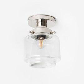 Plafonnière Getrapte Cilinder Small Helder 20's Nikkel