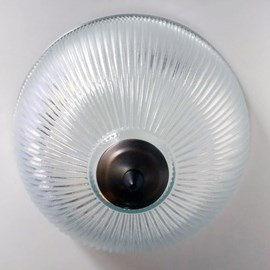Plafonnière Industrie Glasschaal Ø 30 of 38 cm