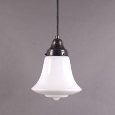 Hanglamp Klok in Opaal