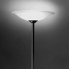 Grote Staande Lamp met Etsglasschaal