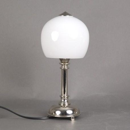 Badkamer Tafellamp Kleine Retro met glaskap Douche Opaal