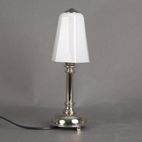 Badkamer Tafellamp Kleine Retro met glaskap Zeskant Opaal