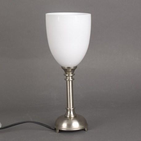 Badkamer Tafellamp Kleine Retro met glaskap Beker Opaal omgekeerd