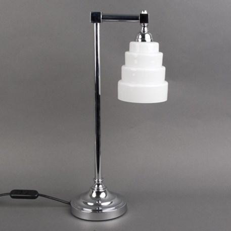 Badkamertafellamp Verchroomde Voet met Glas