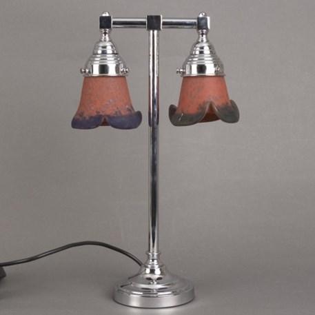 Badkamer Tafellamp 2-lichts Pate-de-verre Rood met Blauw