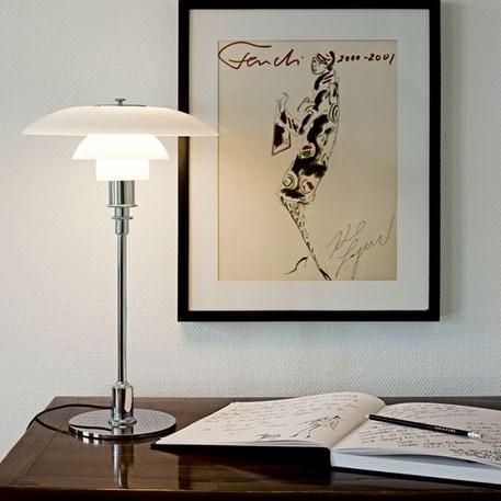 Sfeerimpressie Louis Poulsen PH 3/2 Tafellamp Hoogglans Verchroomd