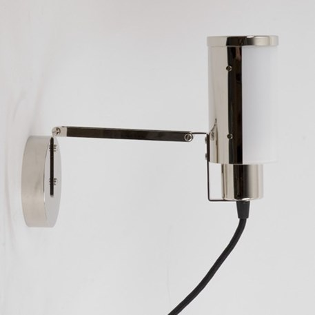 Multifuncionele lamp met snoer, stekker en draaischakelaar. Hier afgebeeld als wandlamp/schilderijlamp/belichtingslamp