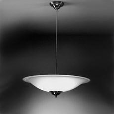 Hanglamp Schotel met Rand in Etsglas