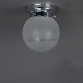 Badkamerlamp Plafonnière Geslepen Bol