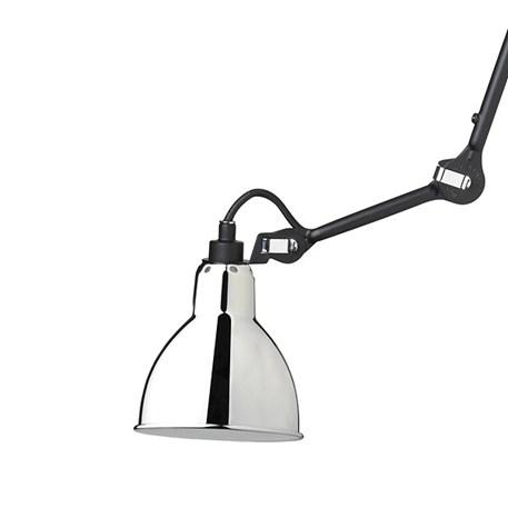 Plafondlamp/spot La Lampe Gras matzwart met een verchroomde kap