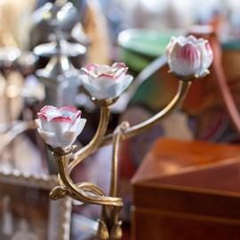 Kandelaar Nouveau Rose