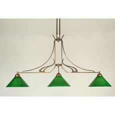 T-lamp 3 lichts Jugendstil
