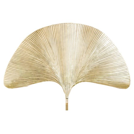Messing Ginkgo Leaf Wandlamp
