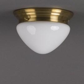 Plafonnière Halve Bol Opaal