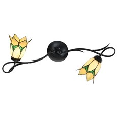 Tiffany Wandlamp/Plafonnière Lovely Flower Yellow 2