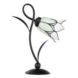 Tiffany Tafellamp Lovely Flower White Romantic