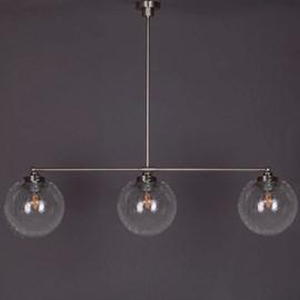 Hanglamp 3-Lichts met Bol Cracle Helder