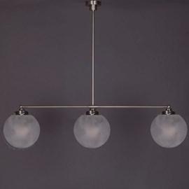 Hanglamp 3-Lichts Bol Satijn