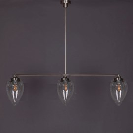 Hanglamp 3-Lichts met Menhir Cracle Helder