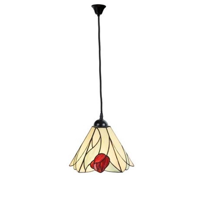 Tiffany Hanglamp Tulip aan Katoensnoer
