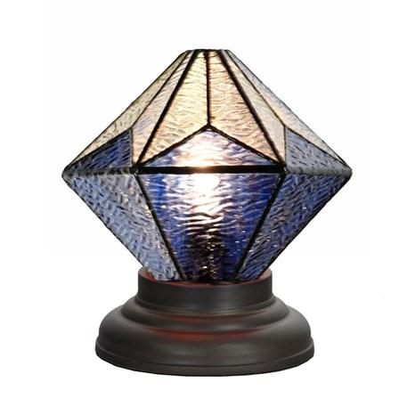 Laag Tiffany Tafellampje Akira Blue